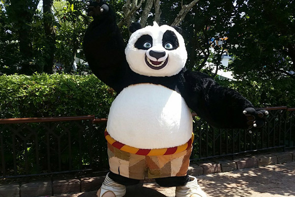 Po the Kung Fu Panda at Universal Orlando