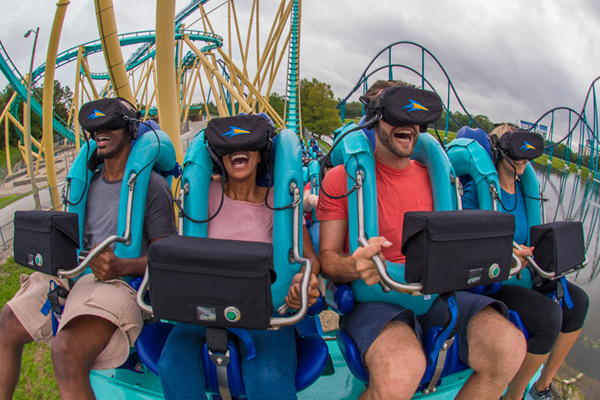 SeaWorld Orlando has enhanced Kraken with VR headsets for Kraken Unleashed