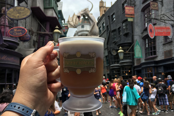 Cool down with frozen Butterbeer at the Wizarding World of Harry Potter