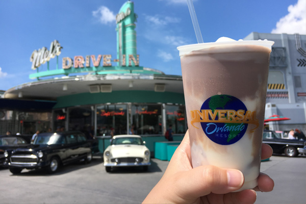 Take a retro trip back to the 1950s with a milkshake at Mel's Drive-In