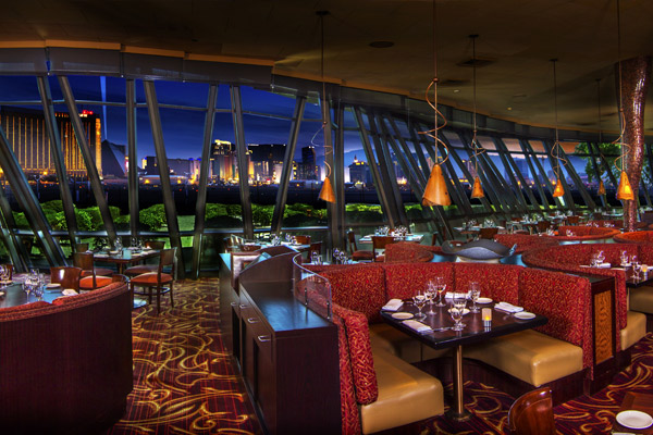 Gaze Out At The View Of Las Vegas Strip From Panevino Photo
