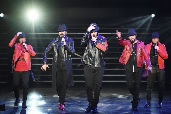 The Backstreet Boys are back in Las Vegas for their Planet Hollywood residency