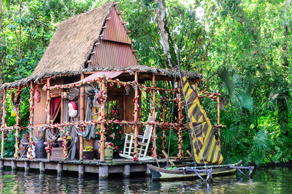You can find plenty of holiday decorations on Disney's Jingle Cruise Photo by Krystal Leal