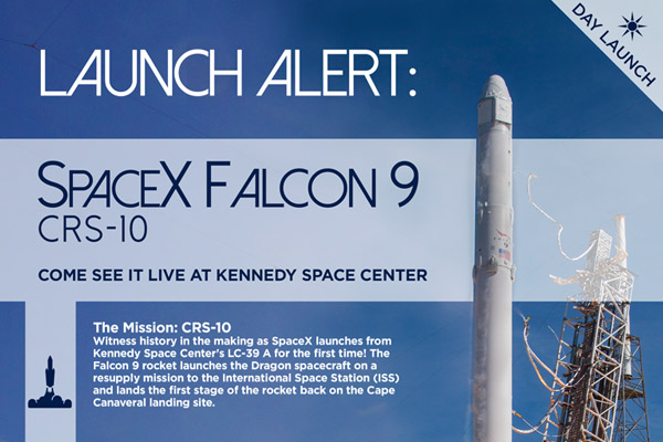 SpaceX Falcon 9 Launch at Kennedy Space Center on February 18