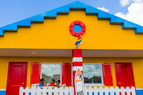 LEGOLAND Beach Retreat is a village-style vacation resort with 83 beach-themed bungalows