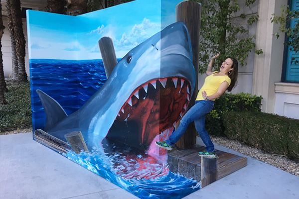 Take a photo with a shark in the all-new Monte Carlo Resort photo op