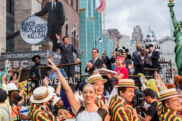 Jimmy Fallon celebrated the grand opening of Race Through New York at Universal Orlando