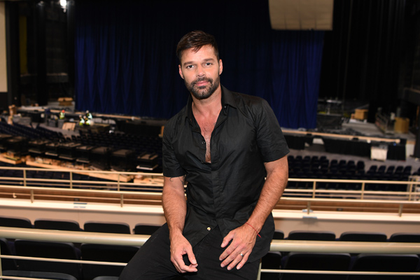 Ricky Martin was on hand to tour his new home at Park Theater