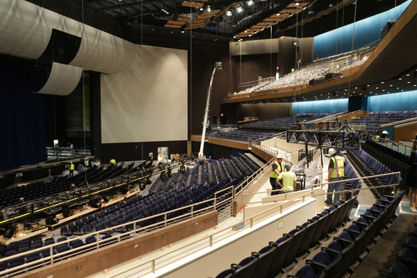 Park Theater is a 5,200-seat venue offering state-of-the-art audio and visual technology