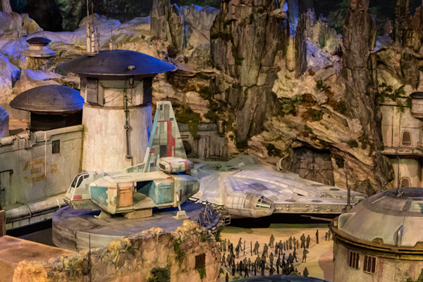 Travel aboard the Millennium Falcon with the Star Wars Land expansion
